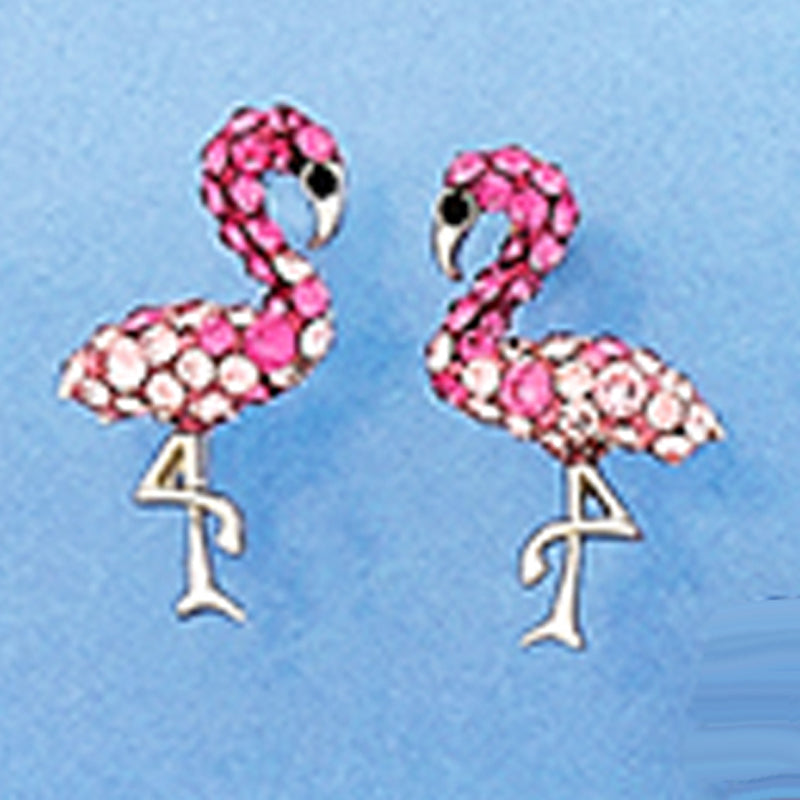 Sterling Silver Flamingo with Swarovski Crystals