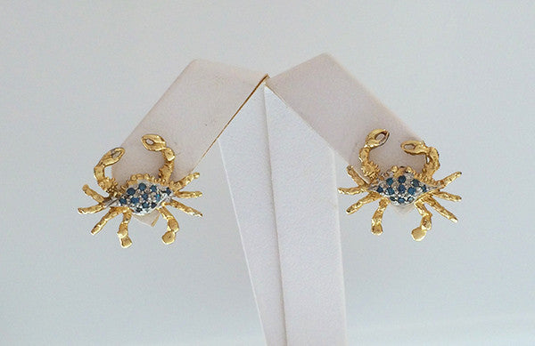 Crab Earrings - small