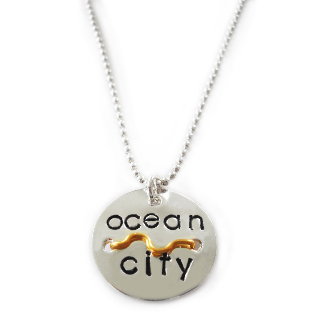 Mini OC Beach Tag Necklace