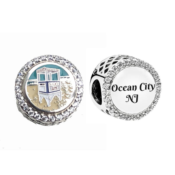 Ocean City Lifeguard Stand Pandora Bead