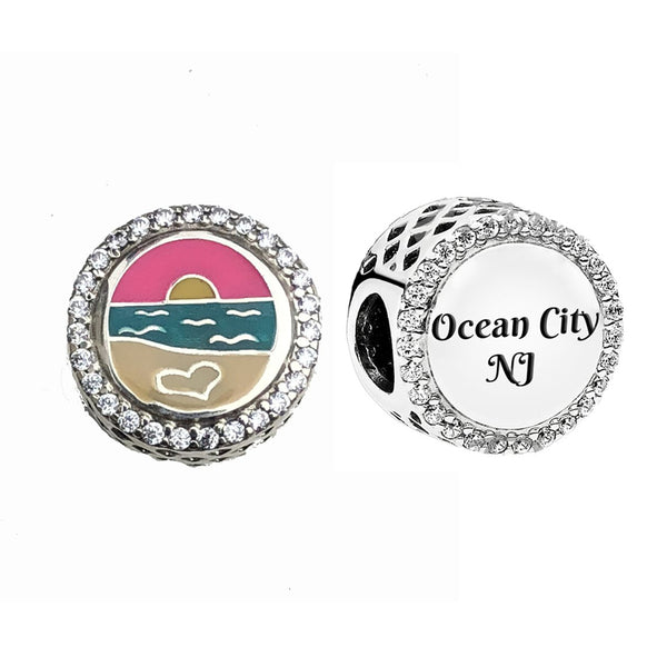 Ocean City Sunset Pandora Bead
