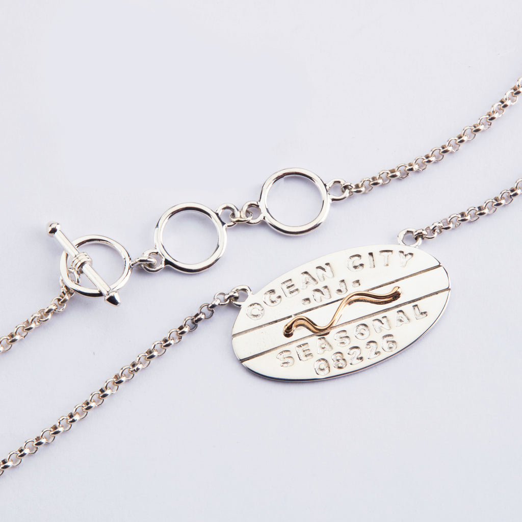 Original Ocean City Beach Tag Necklace