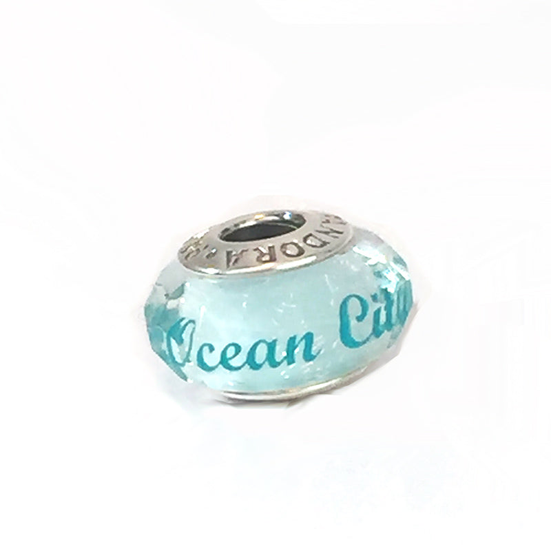 Clear Murano Glass - Ocean City with Flip Flops