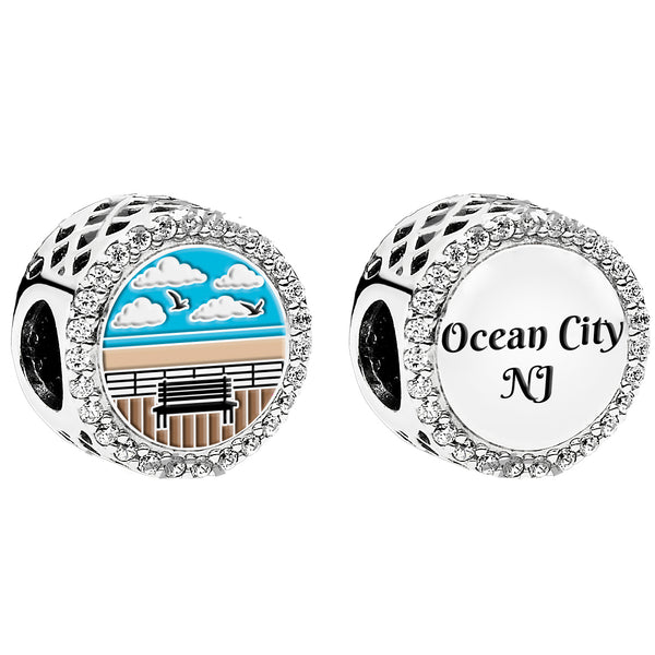 Ocean City Boardwalk Pandora Charm