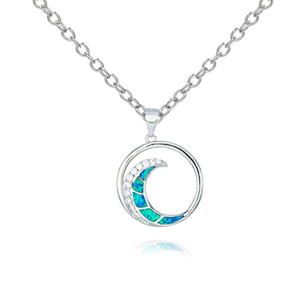 Opal Wave Necklace
