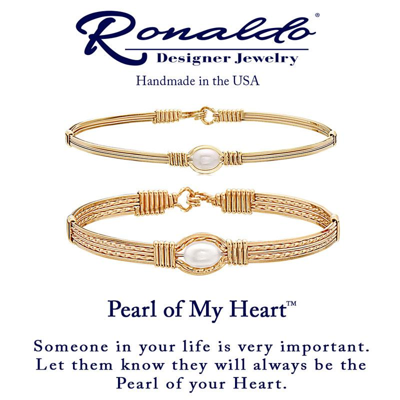Pearl of my Heart (Wide) by Ronaldo Designer Jewelry