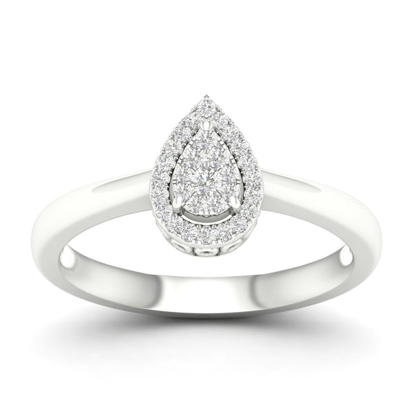 Pear-Shape Halo Ring with .15ctTW diamonds