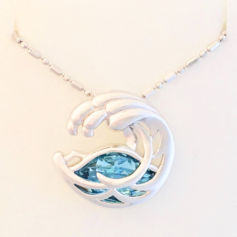 Blue Ocean Wave Pendant