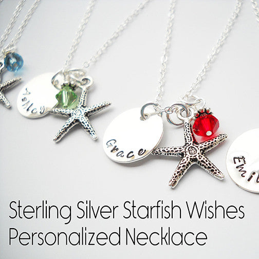 Starfish Wishes - Personalized Pendant