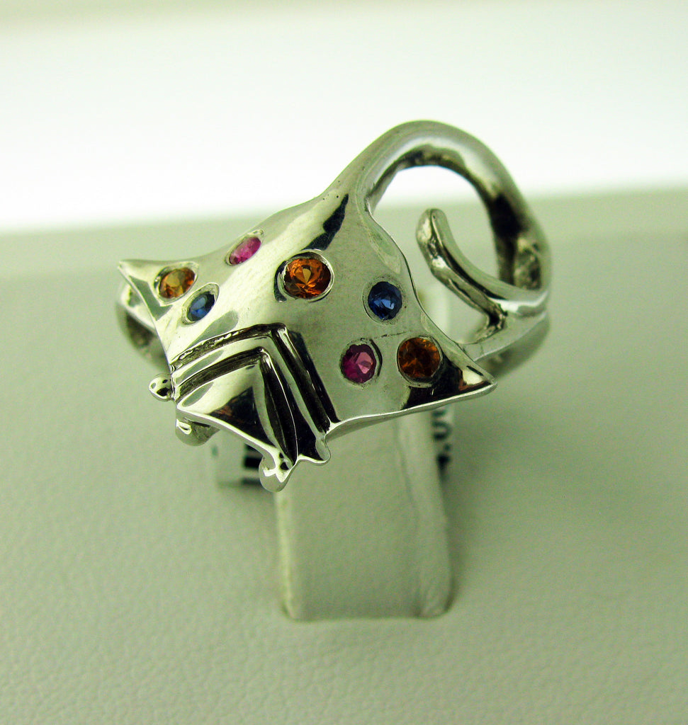 Stingray with Sapphires Ring