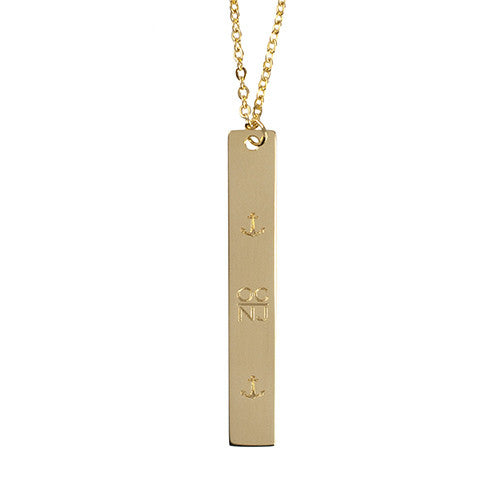 OC Sterling Silver Vertical Bar Necklace