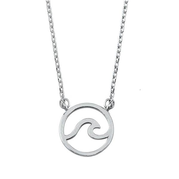 Mini Sterling Silver Wave Necklace