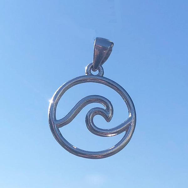 Sterling Silver Wave Necklace (small)