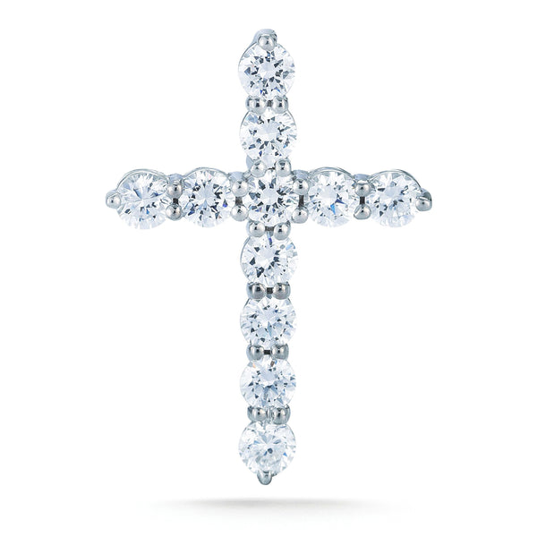 14Kt Cross with 11 Brilliant White Diamonds