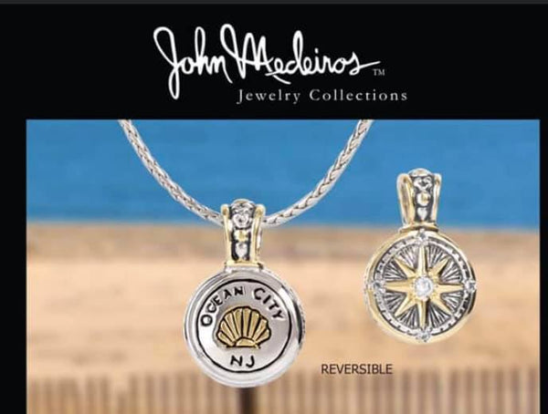 OC Compass Pendant and Necklace by John Medeiros