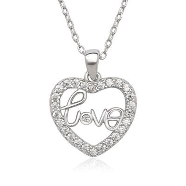 Classic Sterling Silver Heart Pendant