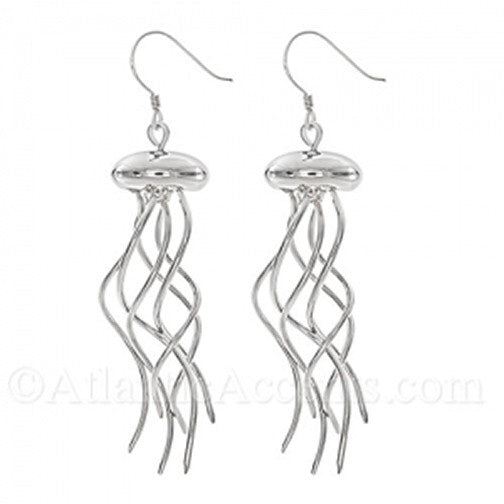 Moving Jellyfish Wire Earrings