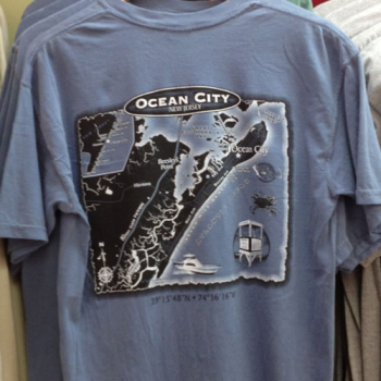 OCEAN CITY MAP SHIRT