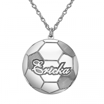 Henry's Personalized Soccer Ball Pendant (21mm)