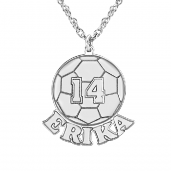 SOCCER BALL PERSONALIZED NECKLACE