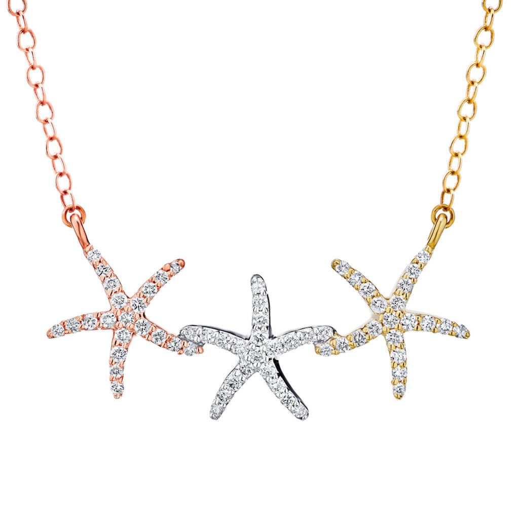 Triple Starfish Necklace