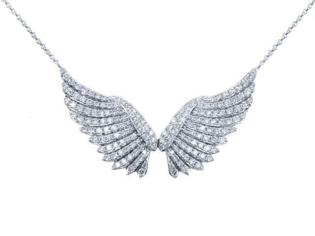 Angel Wings Necklace with Diamonds