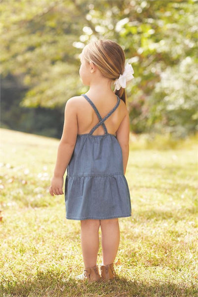 Braided Denim Dress-SALE