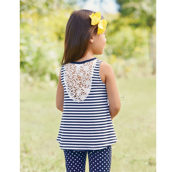 Daisy Heart Tunic Capri Set
