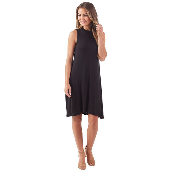 Alissa Swing Dress-Black