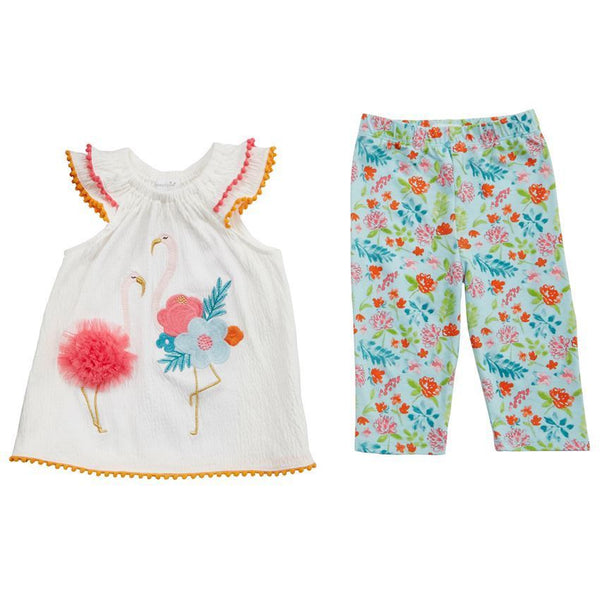 Flamingo Tunic And Capri Set