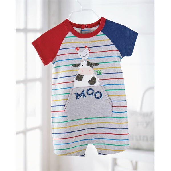 Cow Raglan One Piece