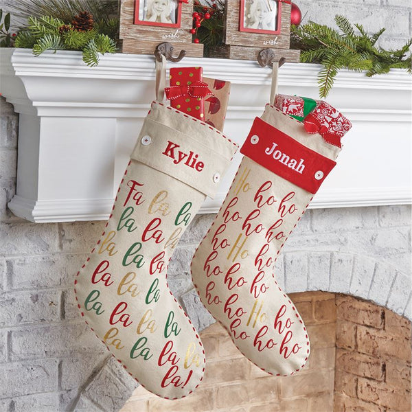 Fa La La Monogram Stocking
