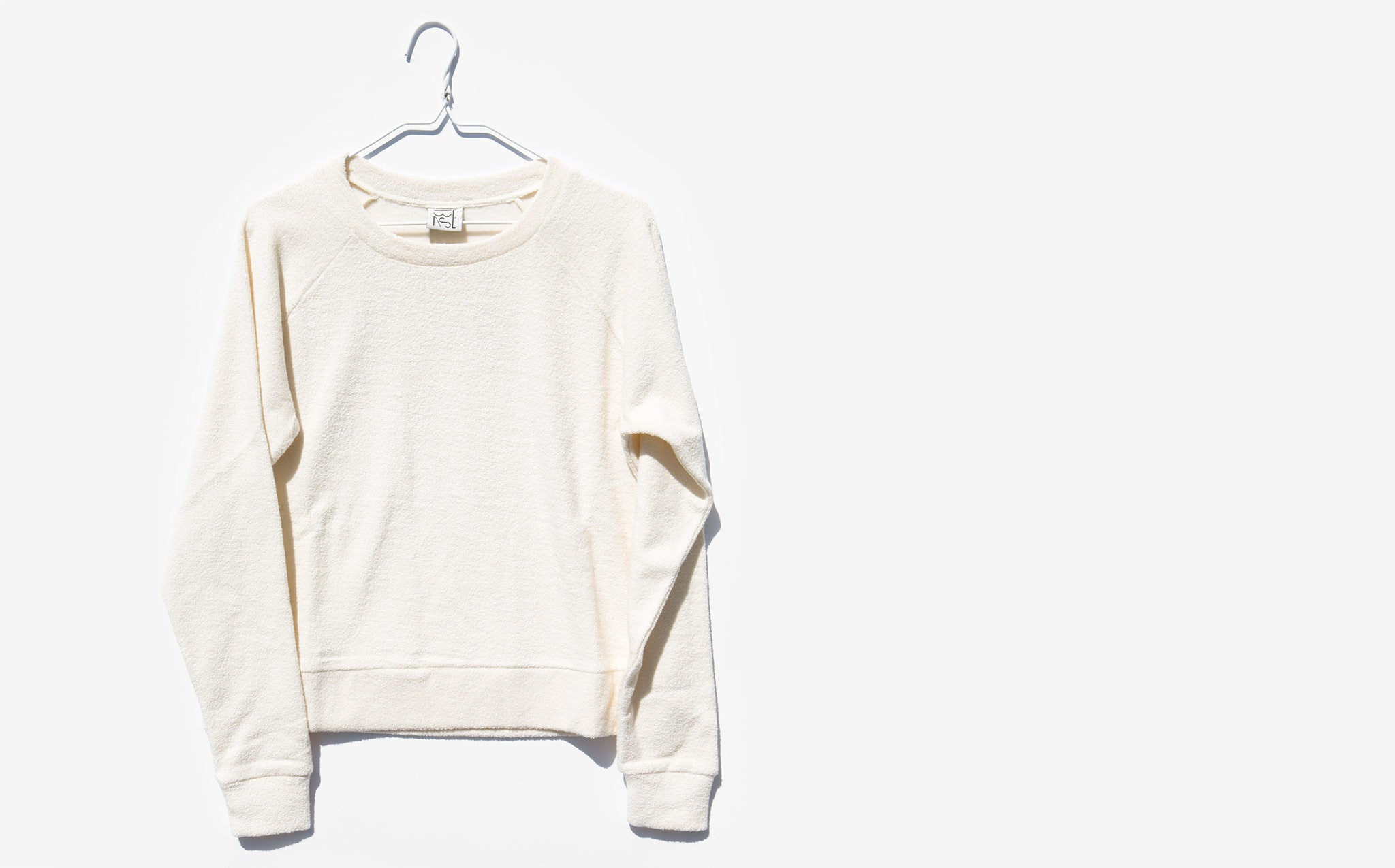 Baserange Off-White Morris Terry Fleece Top