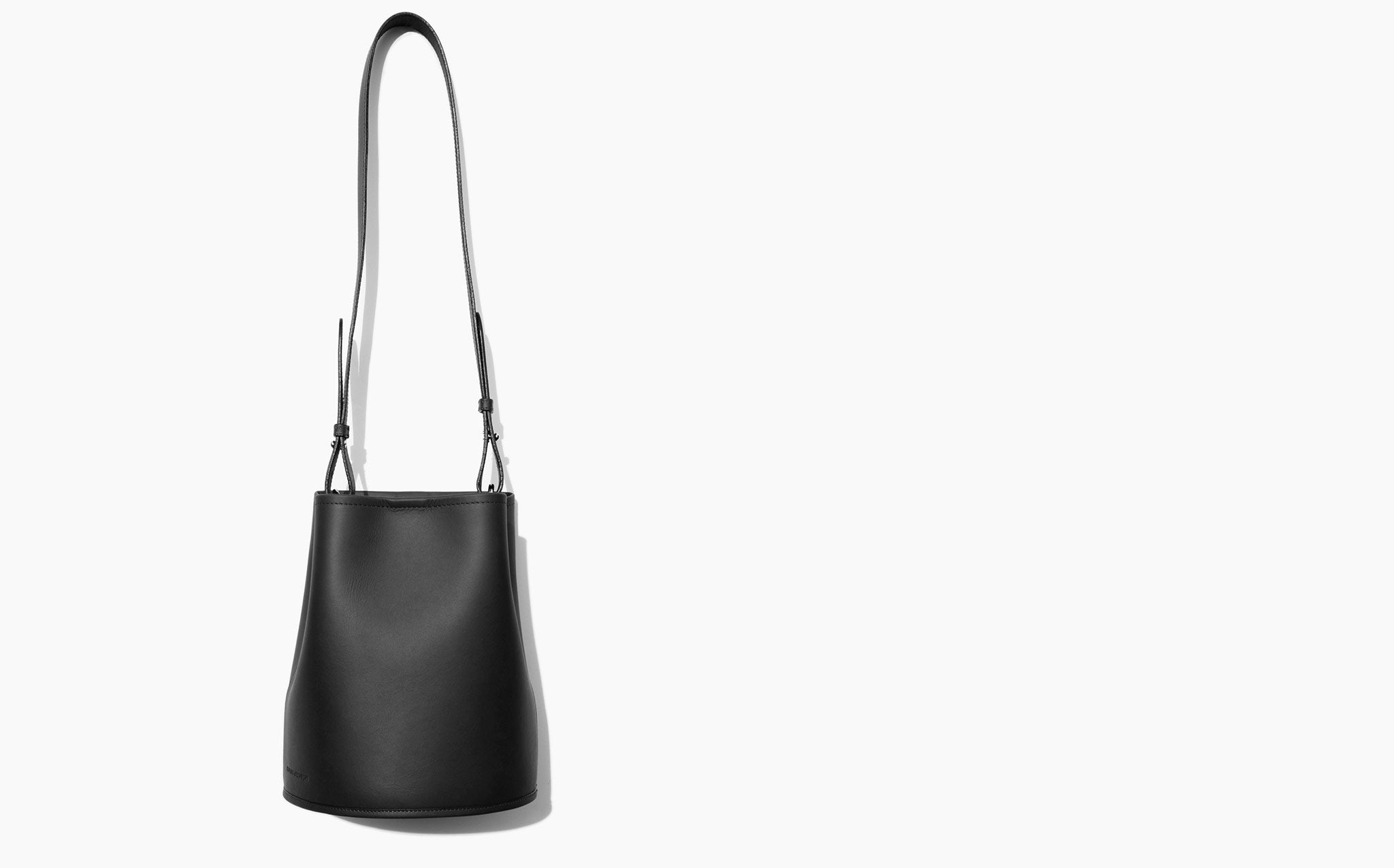 Creatures Of Comfort Black Saddle Small Bucket Bag