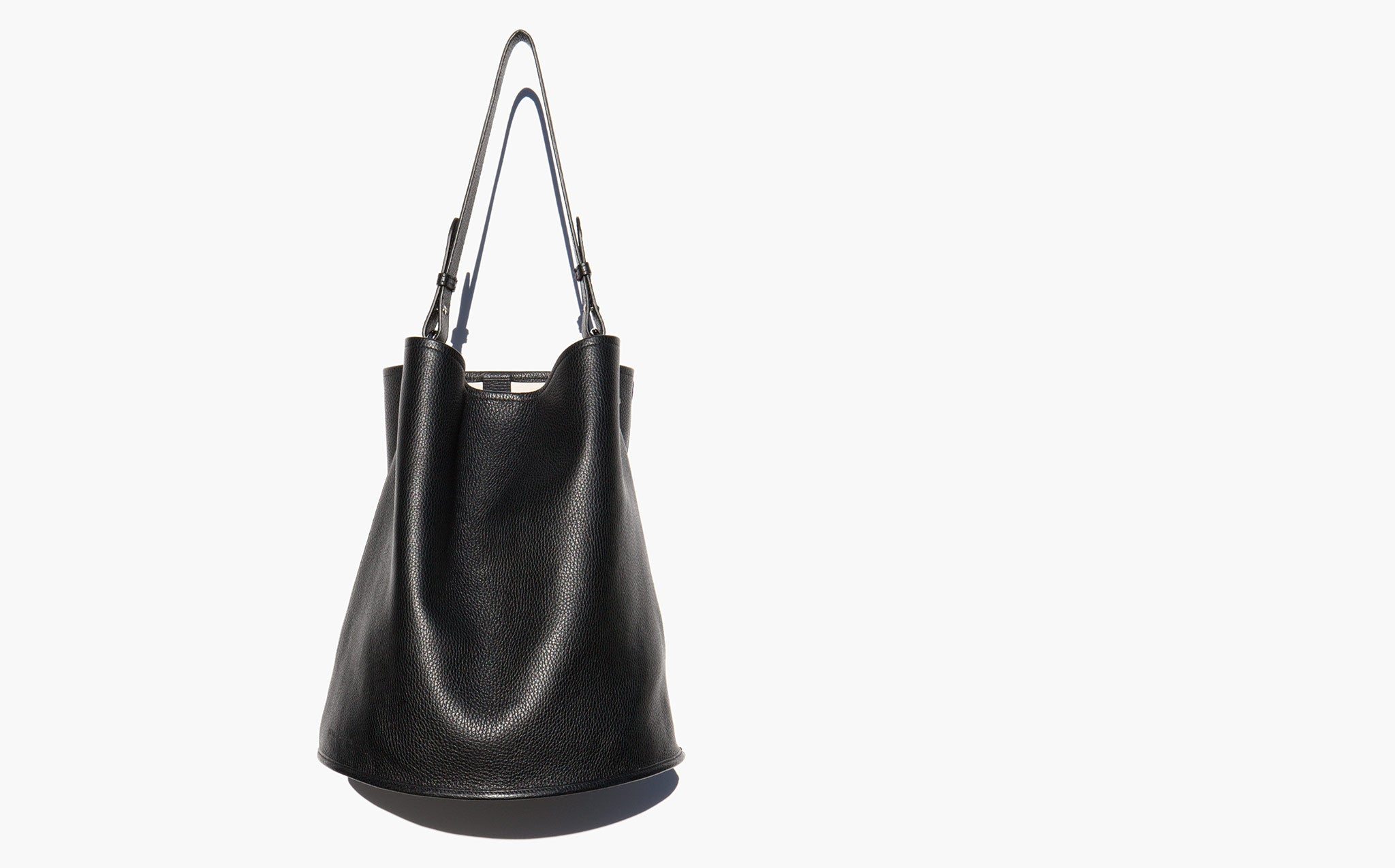 Creatures Of Comfort Black Morocco Leather Large Bucket Bag