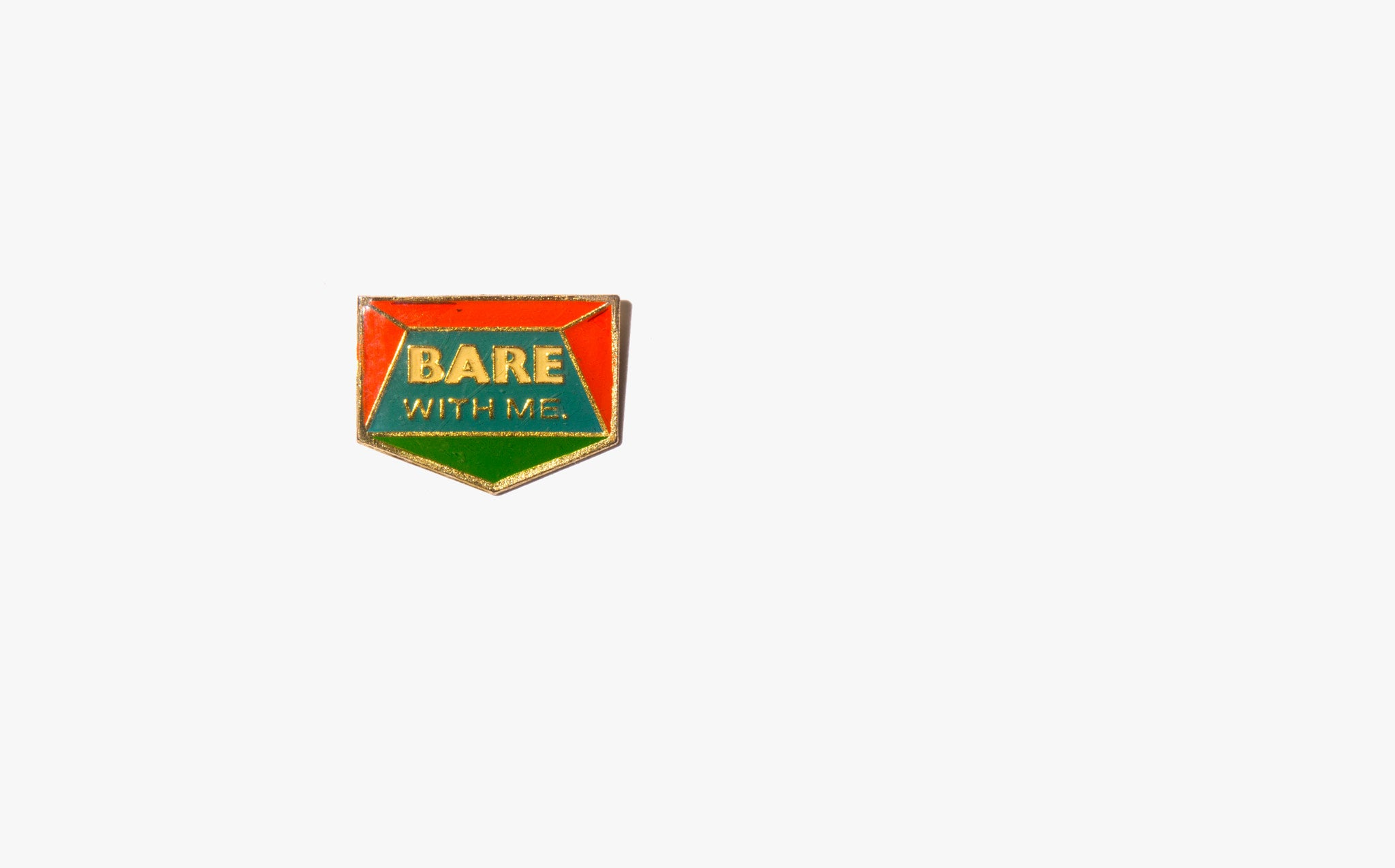 Bare With Me Vintage Enamel Pin