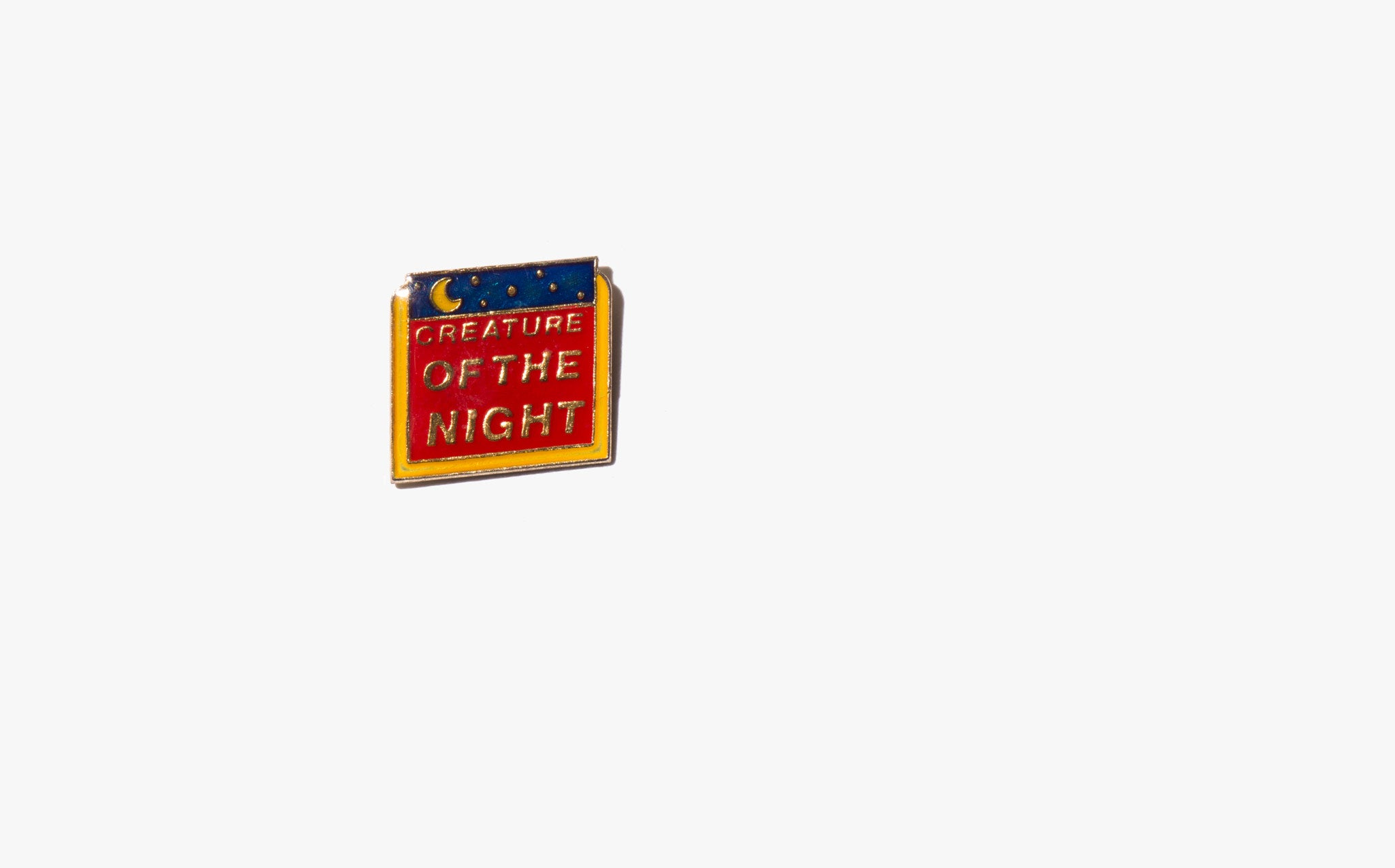 Creature of the Night Vintage Enamel Pin