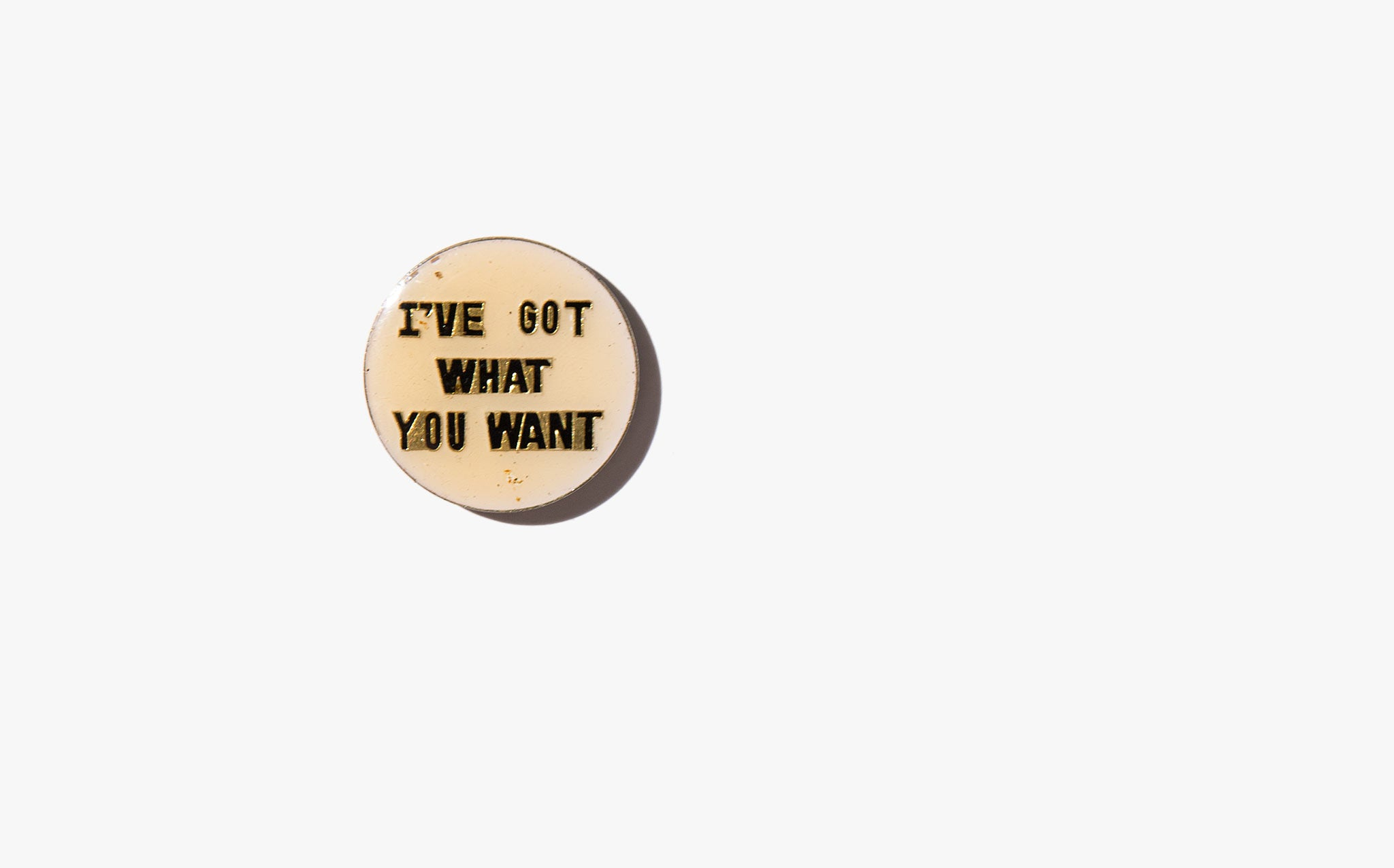 I've Got What You Want Vintage Pin