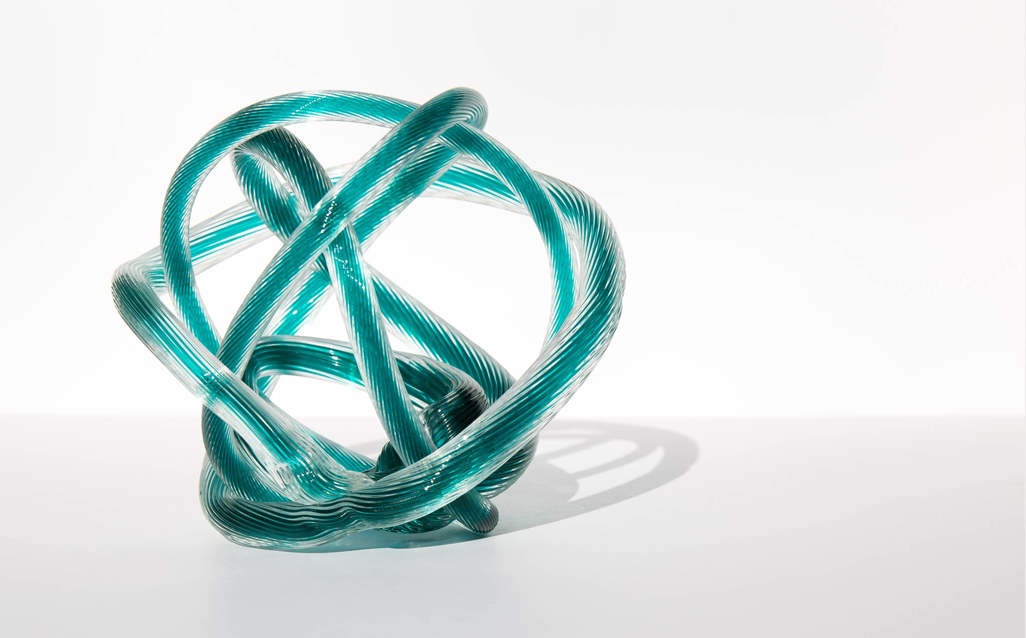 Mid Century Glass Knot Sculpture