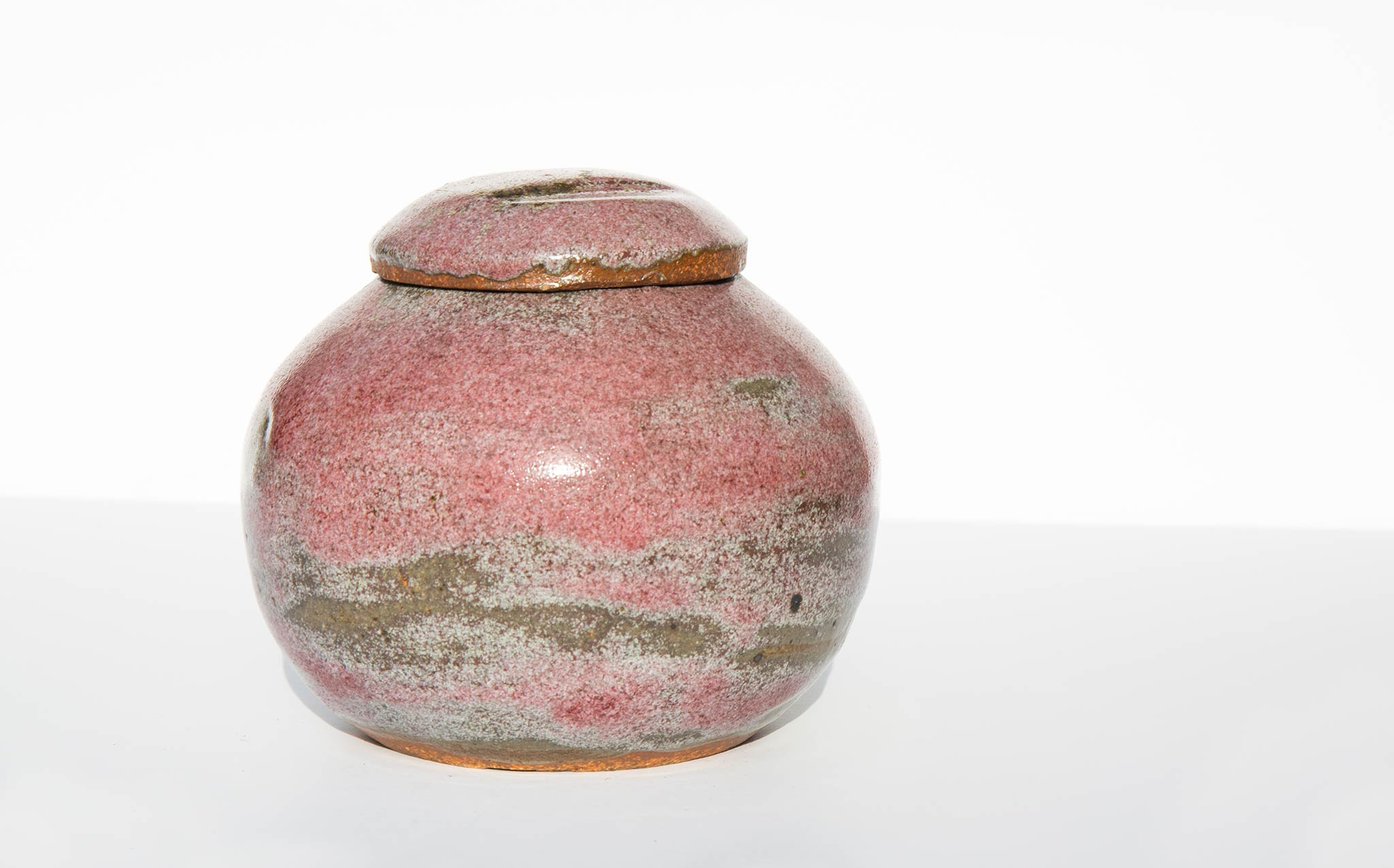 Rustic Blush Pottery Jar