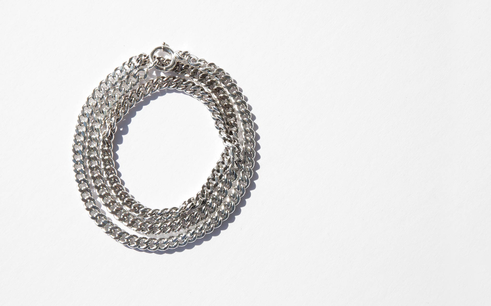 Sterling Silver Link Wrap Around Bracelet