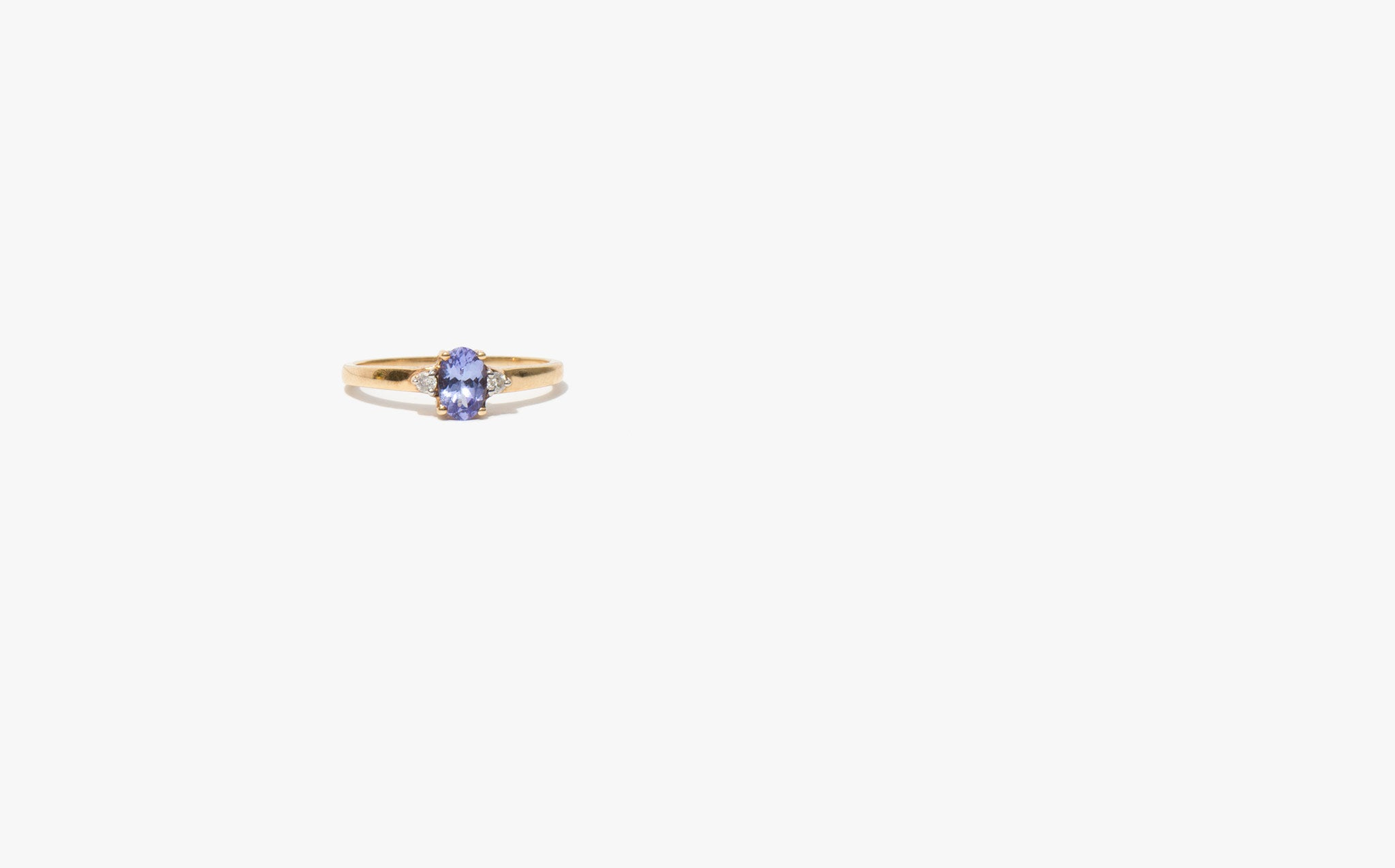 Tanzanite and Diamond Sweetheart Ring