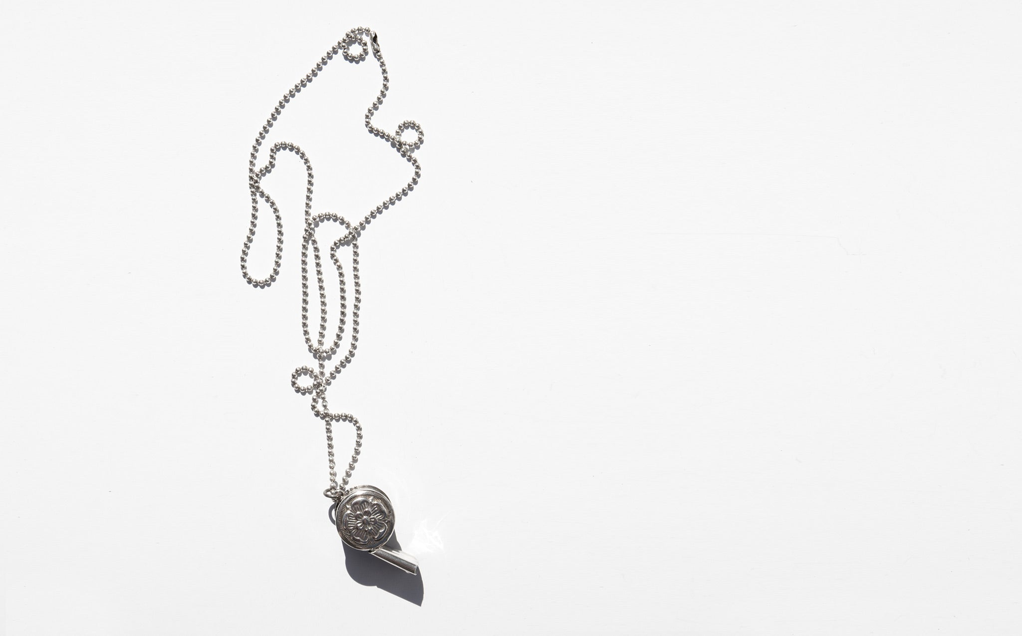 Antique Sterling Whistle Necklace