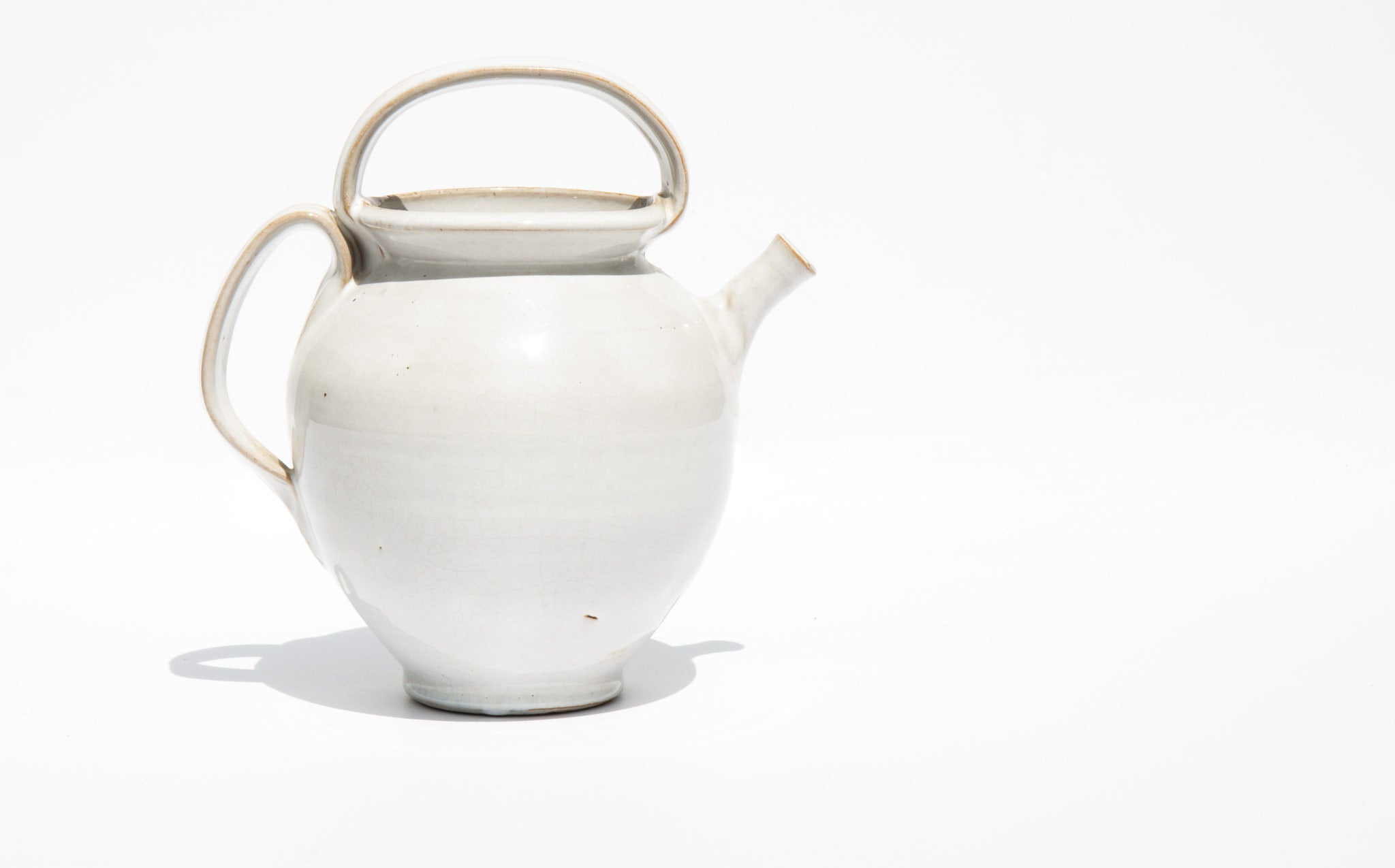 Ghost White Pottery Pitcher