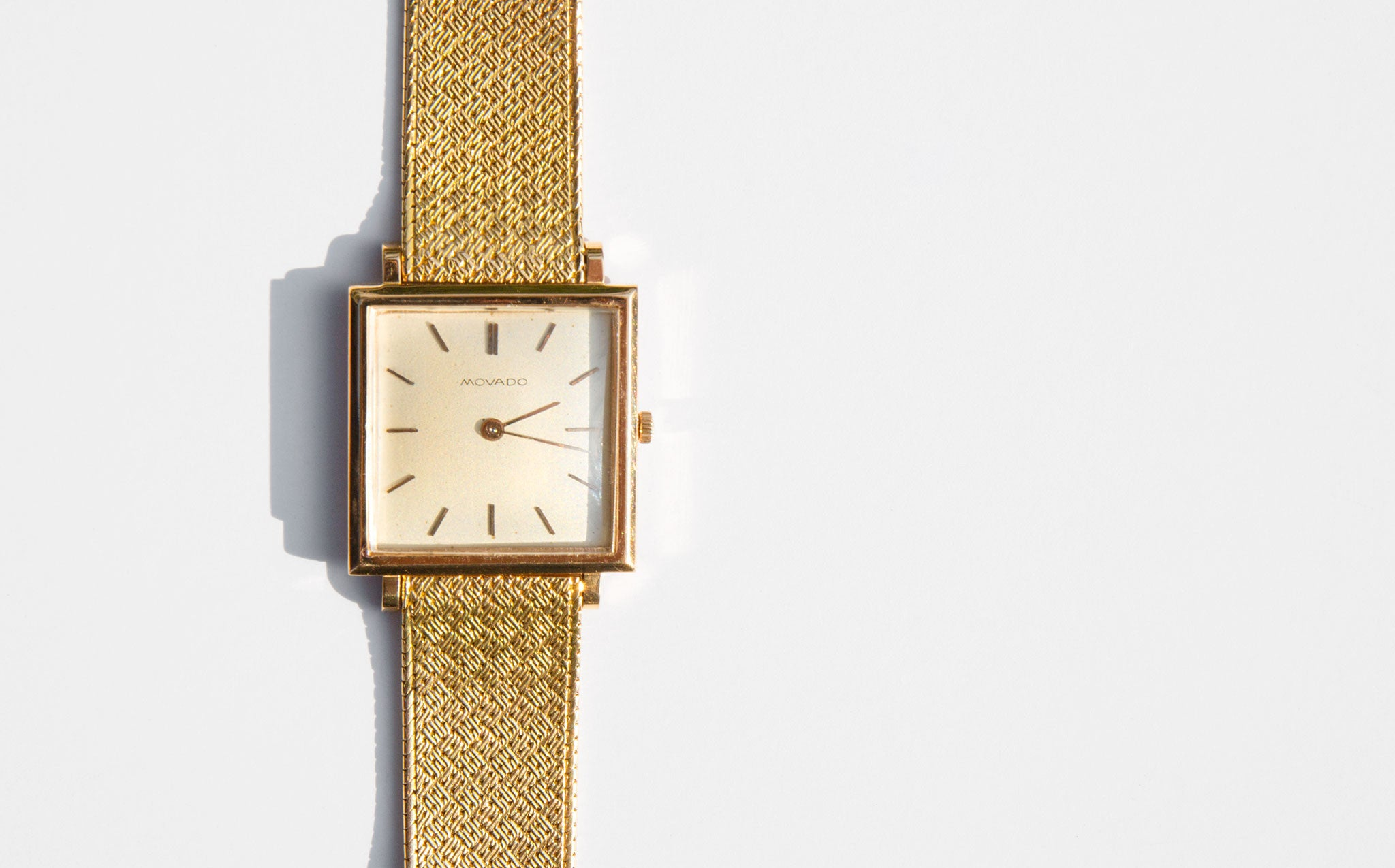 1960's 18K Gold Movado Bracelet Watch