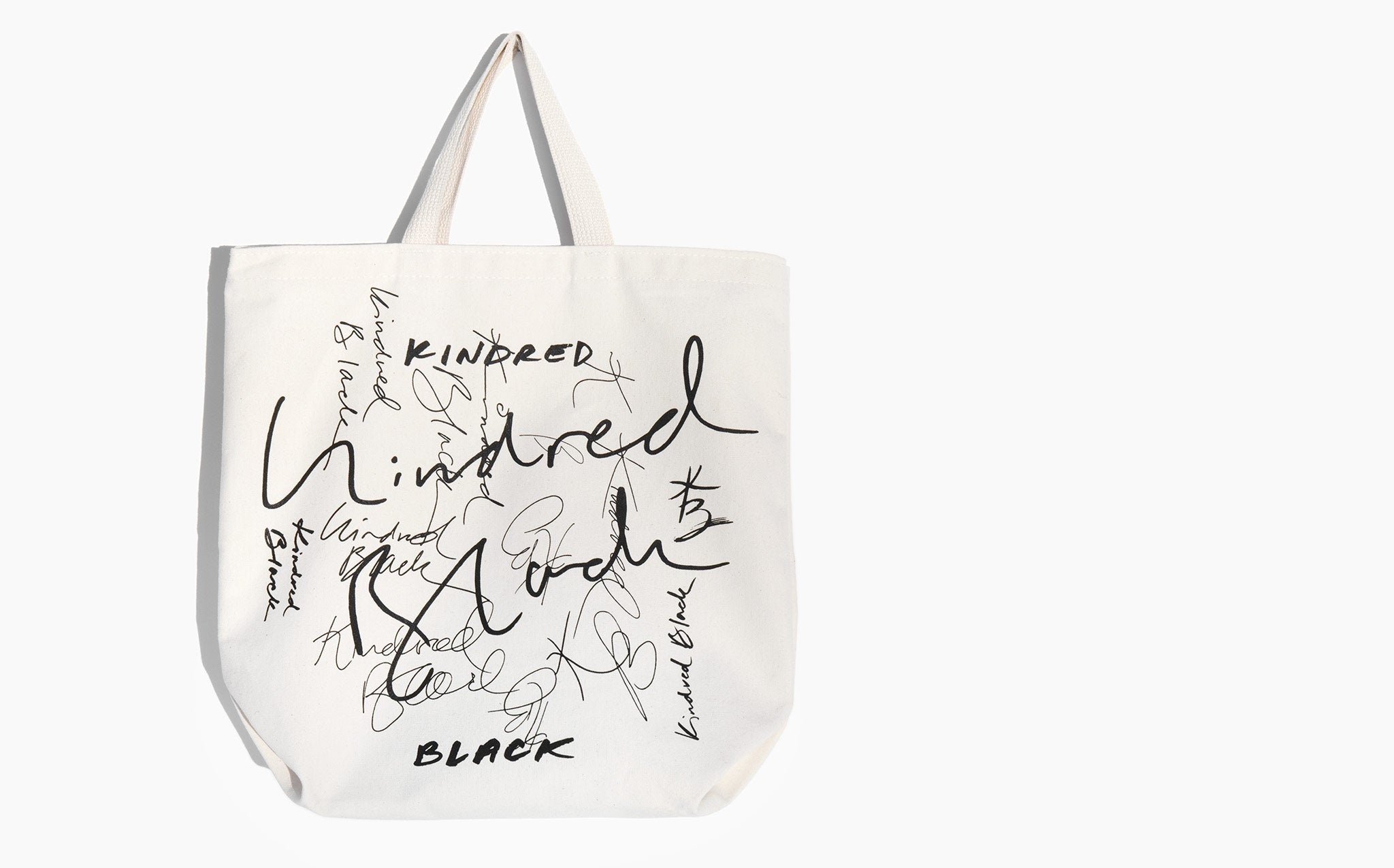 Kindred Black Canvas Logo Tote