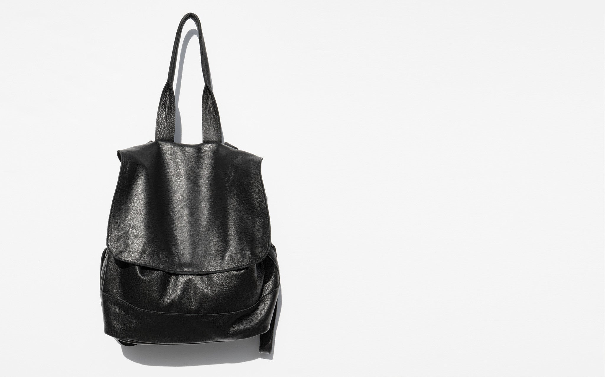 Clyde Room Backpack Black Leather