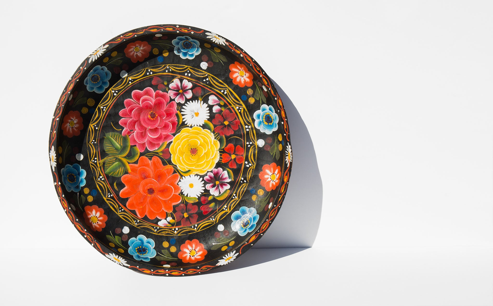 Hand Painted Mexican Floral Batea