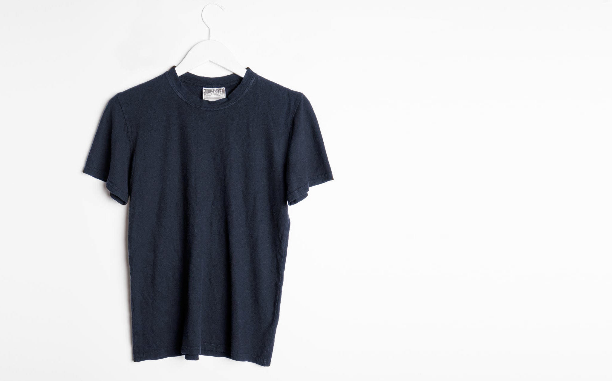 Jungmaven Navy Baja Product T-shirt sizing xs