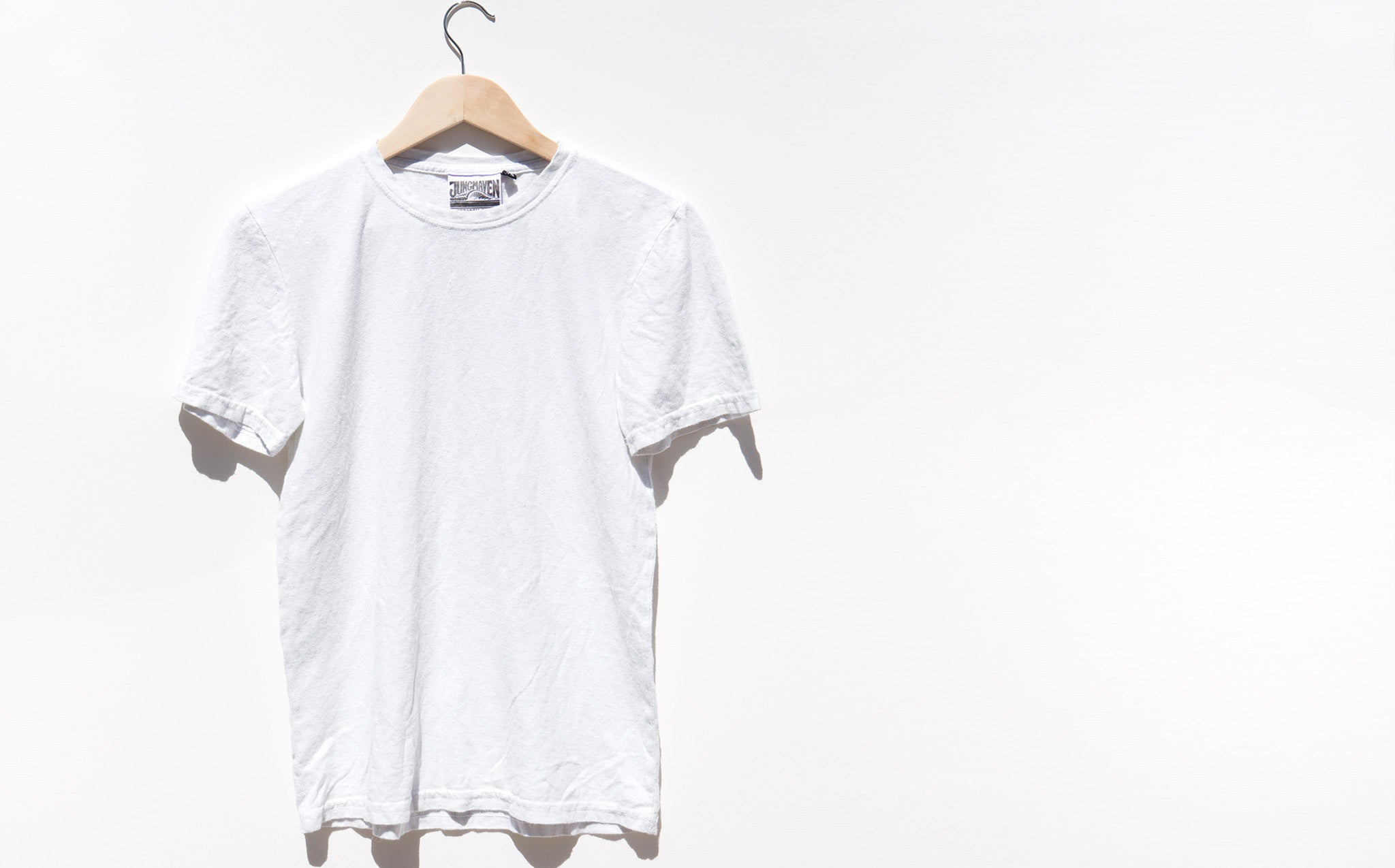 Jungmaven Optic White 5 Oz Baja Tee kindred black